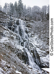 Todtnau Waterfall at winter time - waterfall near Todtnau, a...