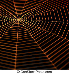 painted spiderweb - full frame symbolic picture with a...