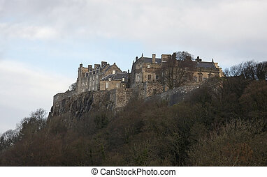 Stirling Castle on mountain top in Scotland