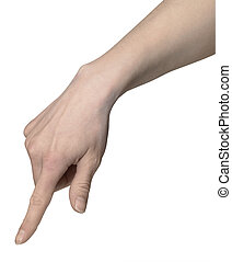 finger pointing hand - studio photography of a pointing hand...