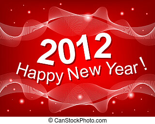 New Year 2012 red background