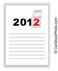 New Year's sheet notebook with the