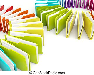 Colored folders isolated on white