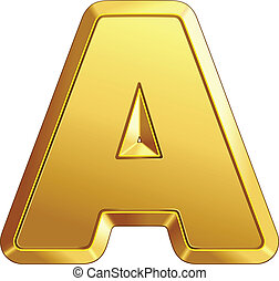 vector shiny gold letter A