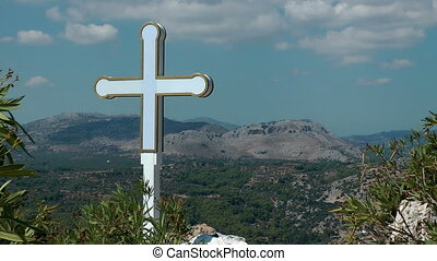 Cross on the peak