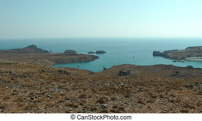 Yact in the Lindos bay