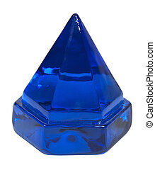 Deck Prism - Large blue deck prism used to bring light down...