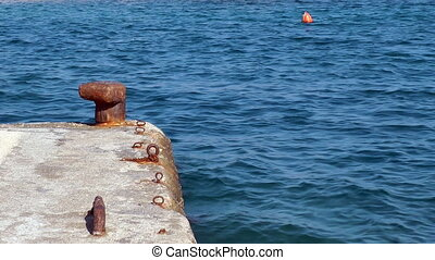 Buoys on the sea surface Rhodes island Greece