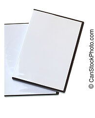 Blank DVD case on white - Blank DVD CD Game case isolated on...