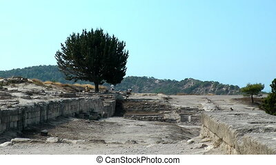 ruins of Kamiros town - Ancient ruins of Kamiros town Rhodes...