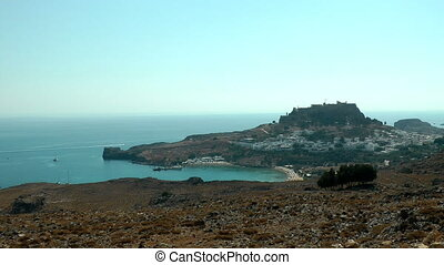 Ancient acropolis of Lindos Rhodes island Greece