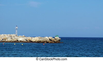 Rhodes port - Rhodes city port. Rhodes island. Greece.