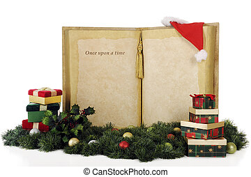 Once Upon a Christmas Gift - A giant book with the words,...