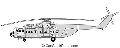 MI-6 Hook - Vector illustration of high detailed transport...