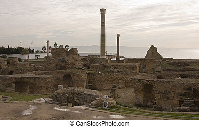 Historical ruins of Carthage, Tunisia - Historical ruins of...