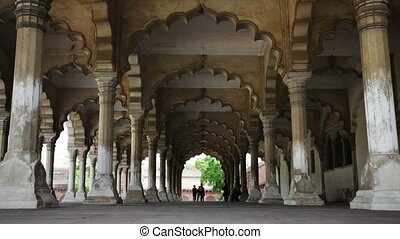 Agra Fort, the hall of public audience, Agra, Uttar Pradesh,...