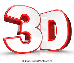 3D Red Letter and Number Three Dimensional Viewing - The...