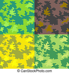 Seamless forest patterns