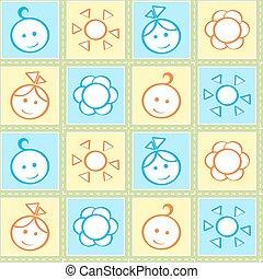 Baby stitches seamless pattern