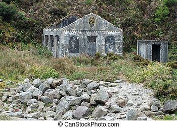 house ruin at Sao Miguel Island - small house ruin at Sao...