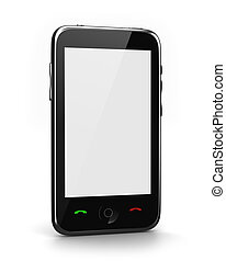 Phone with clear screen perspective view