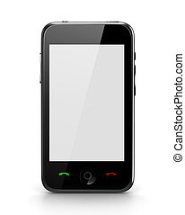 Touch Phone with blank screen front view