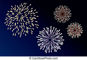 fireworks - vector fireworks background of easily rearranged...