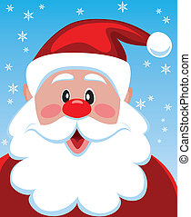 santa with big beard for - vector xmas illustration of santa...