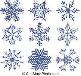 set of snowflakes - vector set of snowflakes