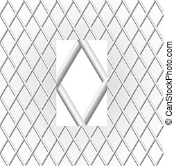 Metal Grid Illustration on white background for design