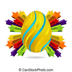 gold and swirl easter egg symbol