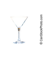 a glass for martini, isolated on white background
