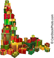 Christmas gifts corner design element - A corner shaped...