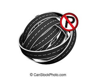 tangle ball of road
