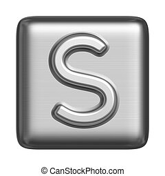 Metal alphabet in the form of a stamp. Capital letter S