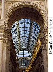 Building of the gallery Vittorio Emanuele in Milan