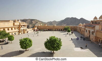 Amber Fort in Jaipur, India - Amber Fort, overlooking...