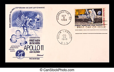UNITED STATES: first day issue celebrating the Apollo 11...