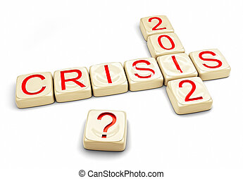 crisis of 2012 concept (computer generated)
