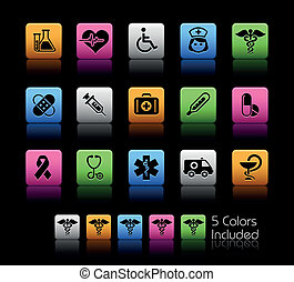 Medicine and Heath Care ColorBox - The EPS file includes 5...