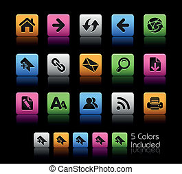 Web Navigation ColorBox - The EPS file includes 5 color...