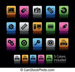Computer and Devices ColorBox - The EPS file includes 5...