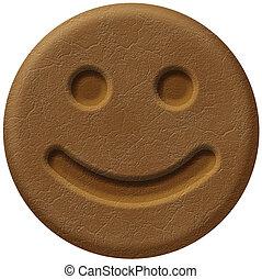 Smile Face Coffee Bean - Round (Circular) Coffee Bean With A...