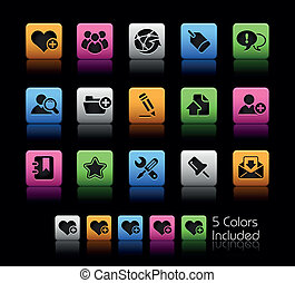 Blog and Internet ColorBox - The EPS file includes 5 color...