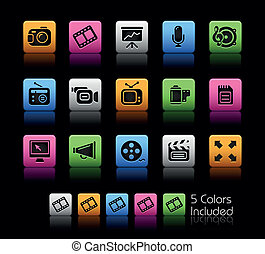 Multimedia Web Icons / ColorBox
