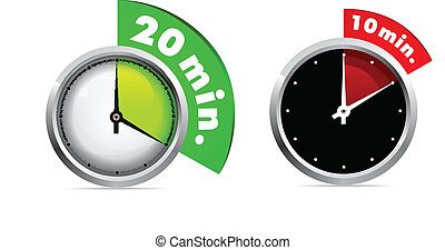 10 and 20 minutes timer - Set of 10 and 20 minutes timer....