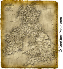 Old Map Of The Great Britain