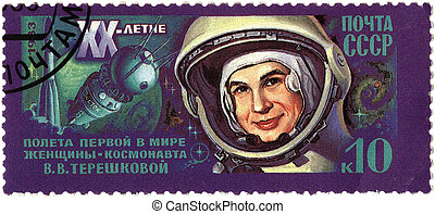 USSR - CIRCA 1983 : A postage stamp printed in USSR shows...