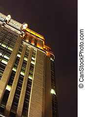 Art Deco Building - Low angle view of a Art Deco building...