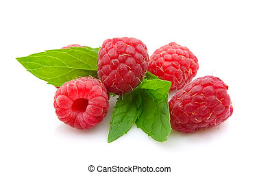 raspberry with mint
